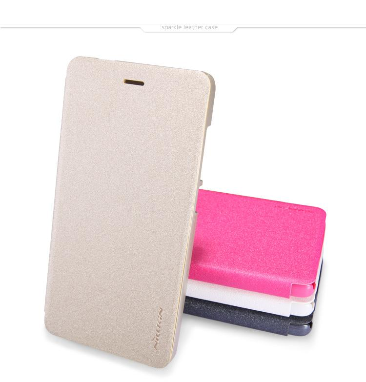 NILLKIN New Sparkle Leather Case for Xiaomi MI4 Smartphone