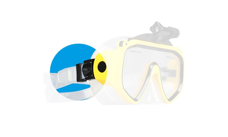 Swimming Scuba Dive Snorkeling Mask Compatible Xiaomi Yi Sports Camera