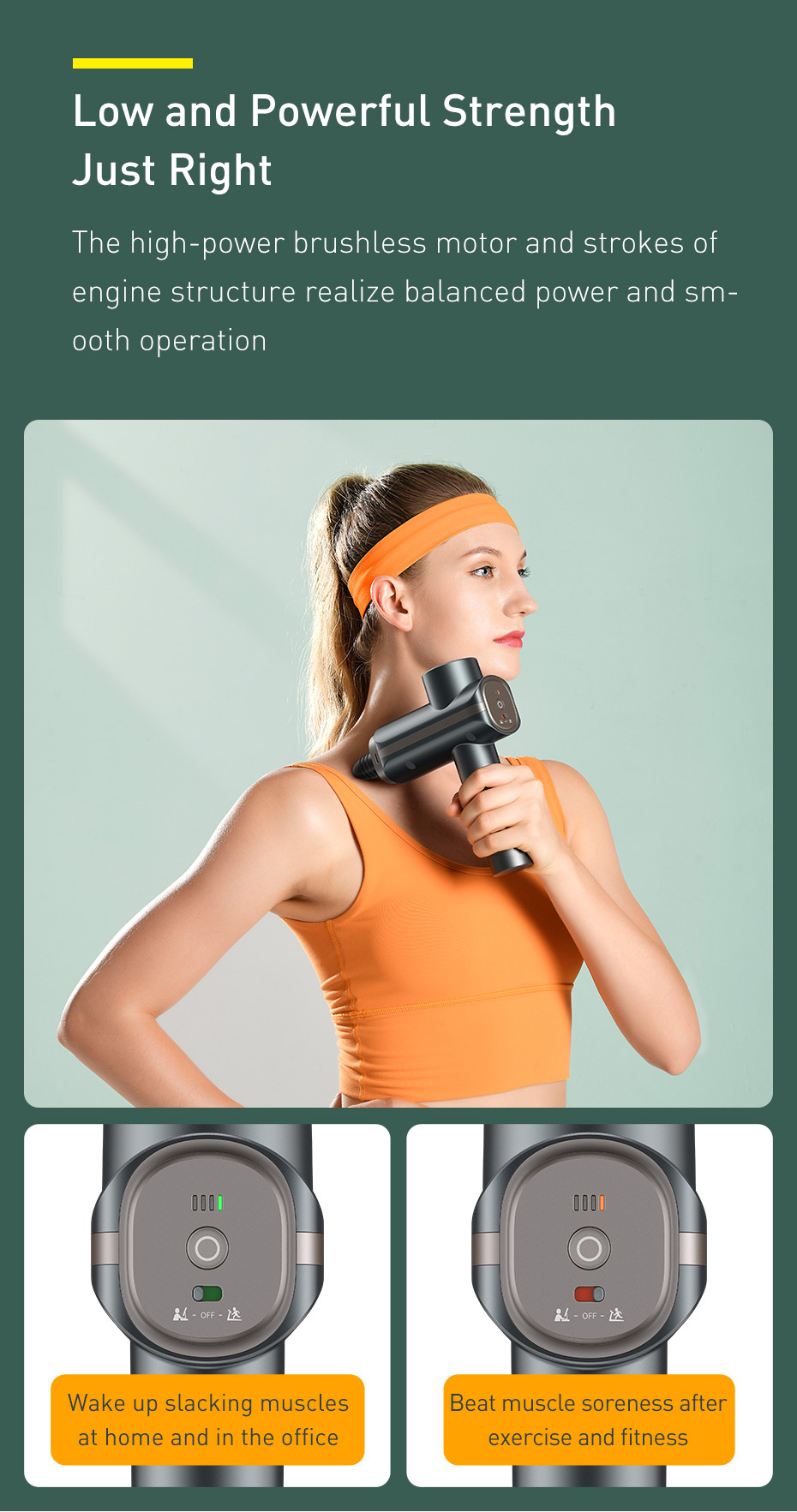 Baseus Booster Dual Mode Massage Gun 5