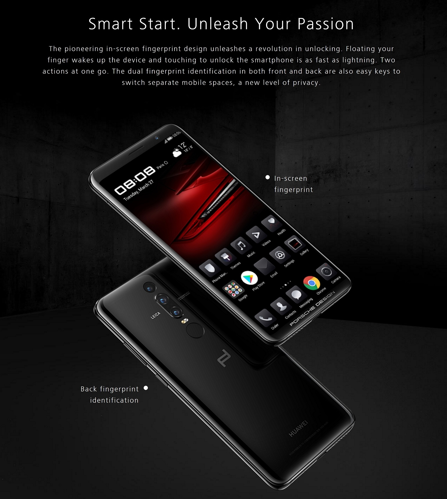 huawei mate rs porsche design smartphone 6gb 512gb. Black Bedroom Furniture Sets. Home Design Ideas