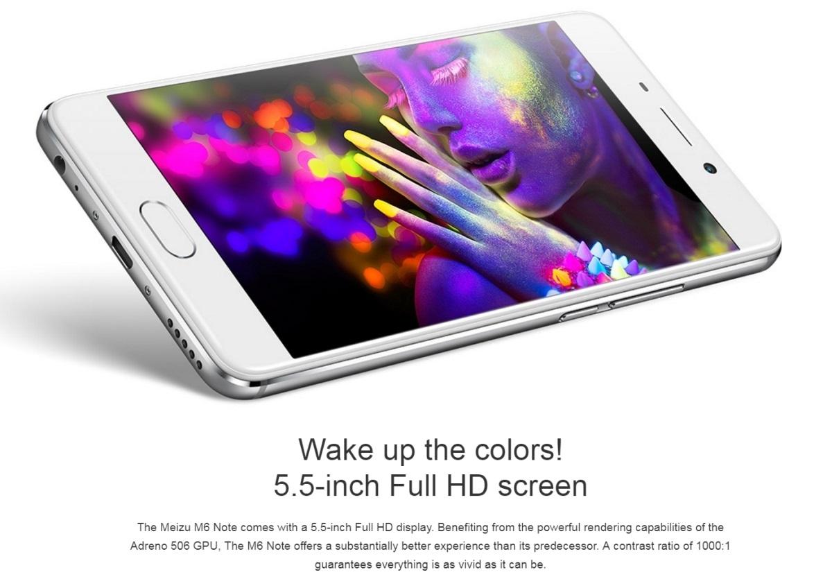 meizu m6 note smartphone 3gb 32gb. Black Bedroom Furniture Sets. Home Design Ideas