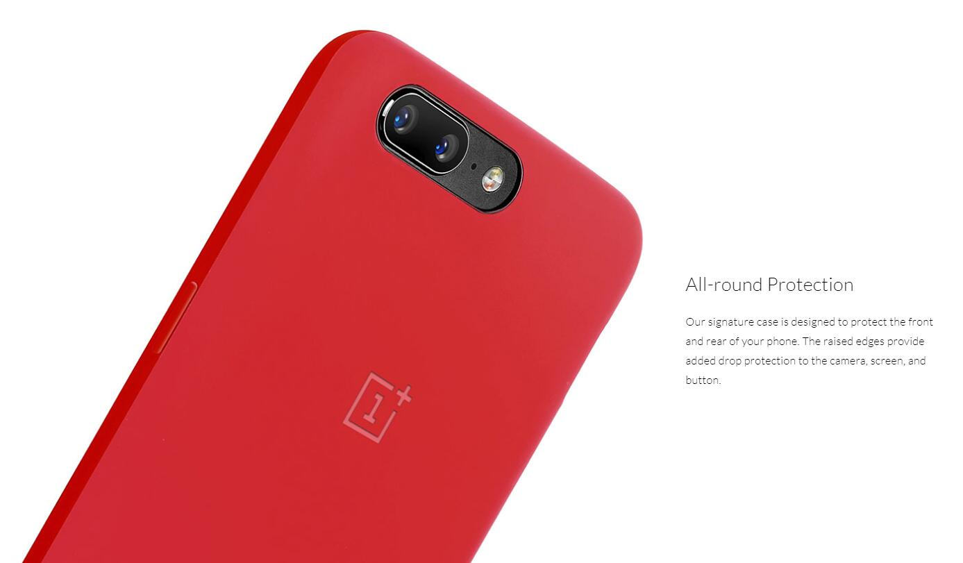 reputable site a0b3d ff378 OnePlus 5 Silicone Protective Case