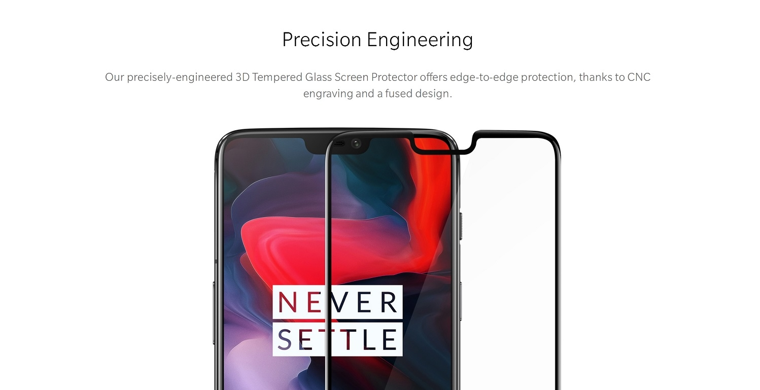 OnePlus 6 3D Tempered Glass Screen Protector