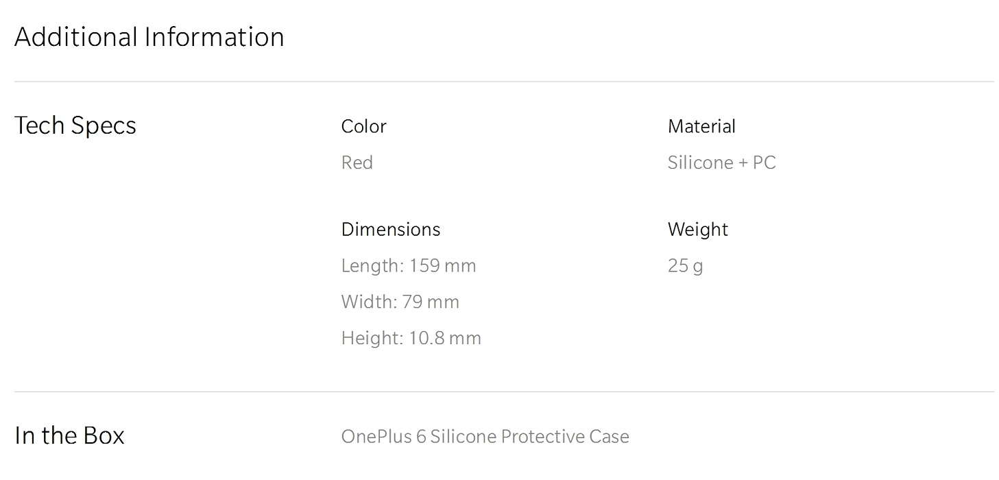 OnePlus 6 Silicone Protective Case