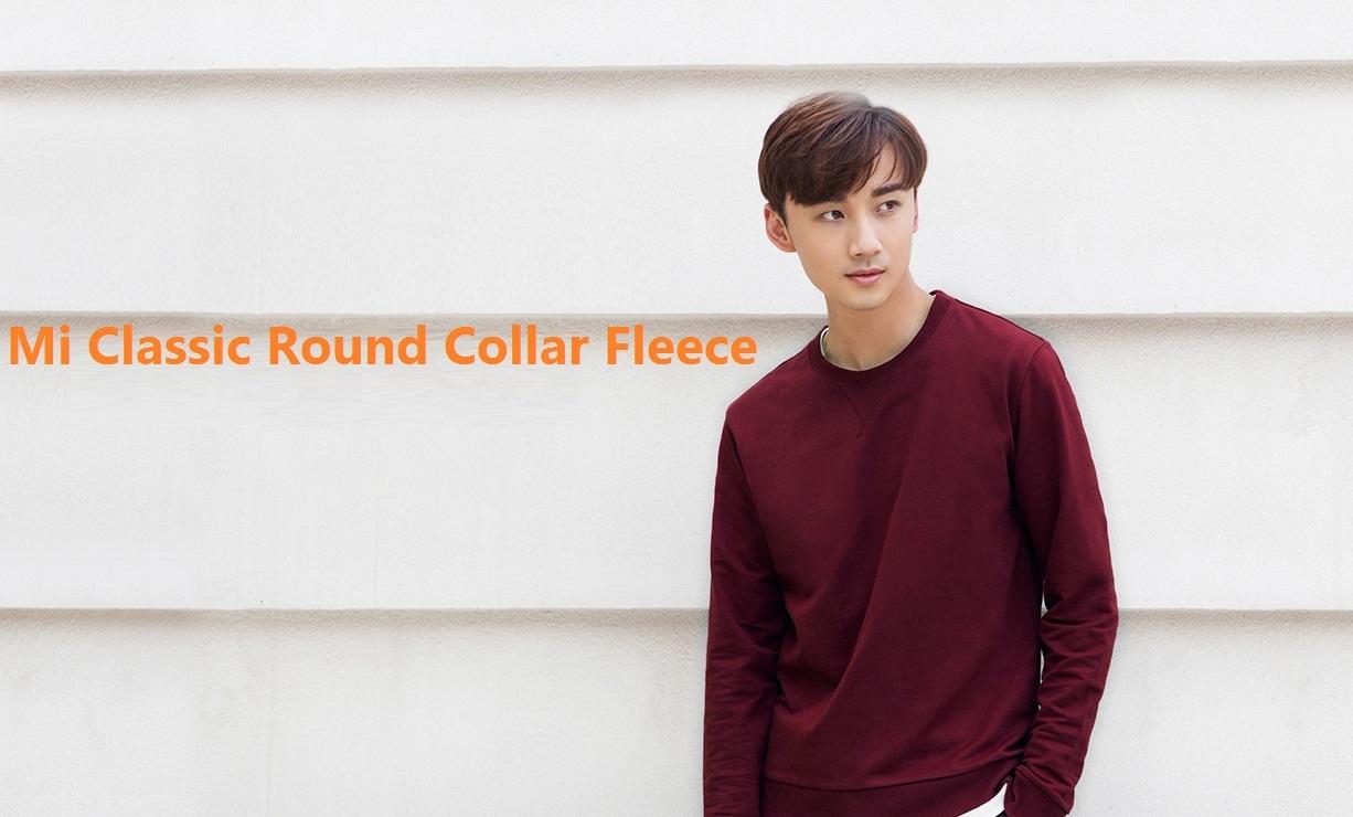 Mi Men's Classic Round Collar Fleece