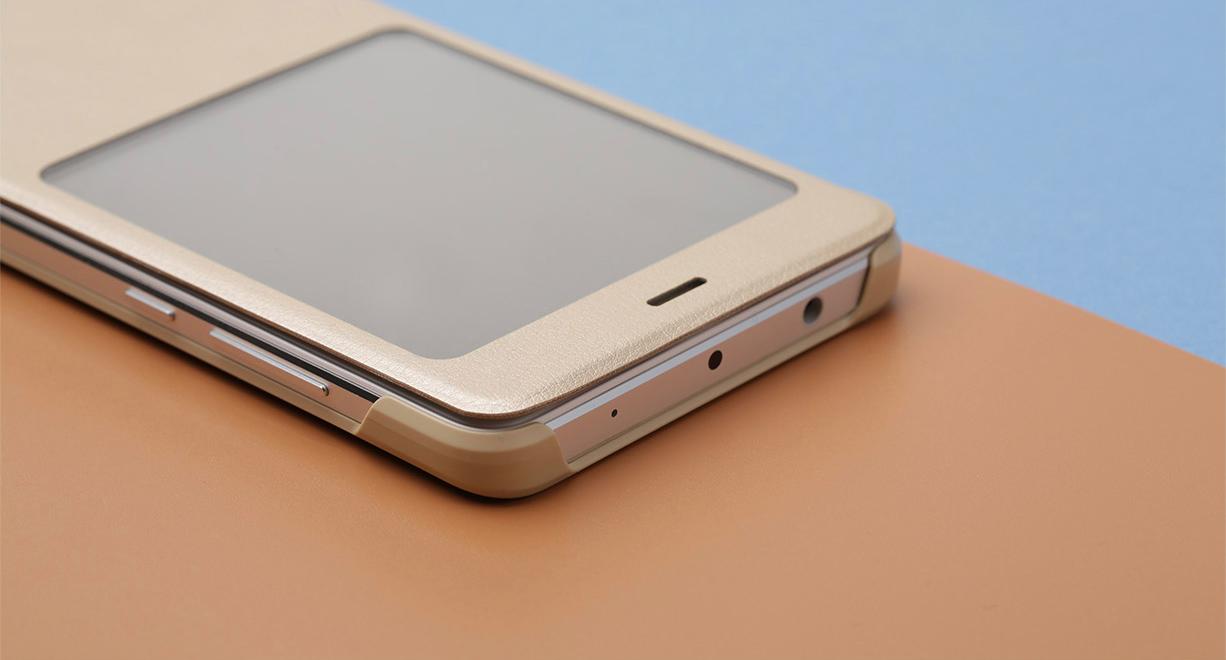 original xiaomi redmi note 4 smart flip cover protective case with