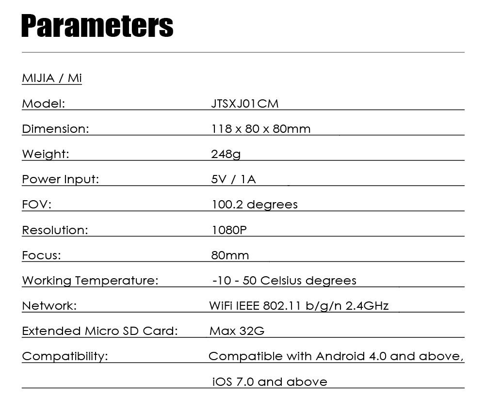 Xiaomi Smart IP Camera