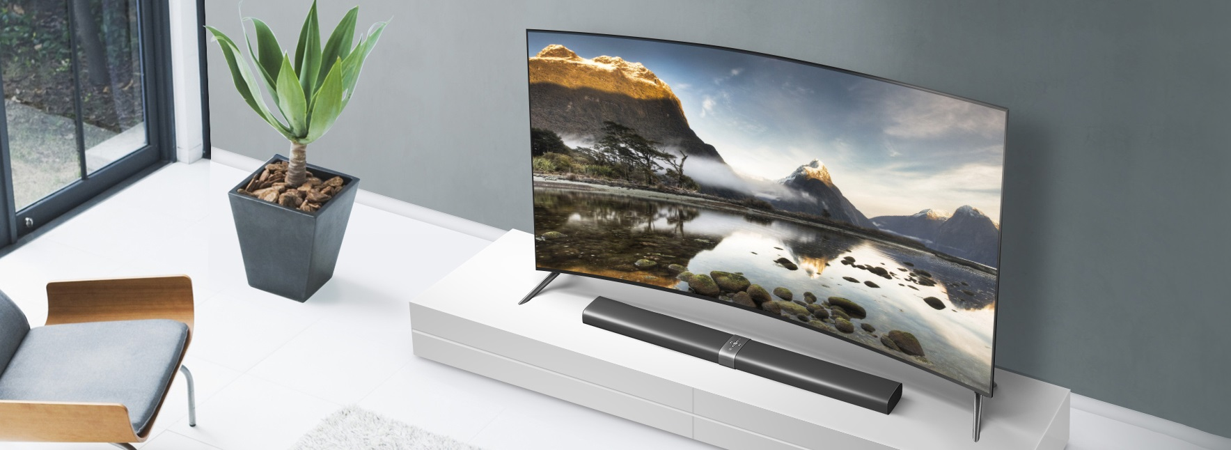 dimension - 65 Inch Curved Tv