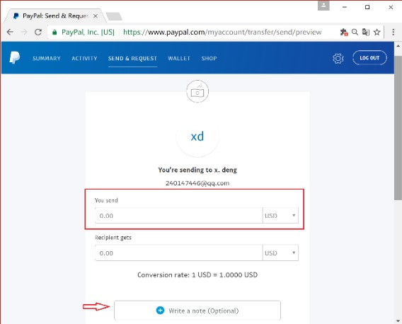 How to use Paypal Friends and Family Payment